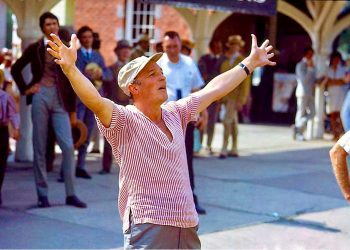 Director of Hello, Dolly! GENE KELLY, on Garrison Landing. ( Provided by Patricia Kelly )