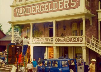 Vandergelder's being readied for filming, June 1968. (Private collection)