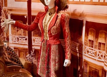 Long thought to be lost, Dolly Levi's gown used in the filming in Garrison is now on view at the Putnam History Museum in Cold Spring, NY.