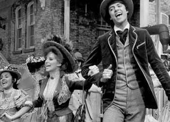 """Tommy Tune in June 1968 with Barbra Streisand singing """"Put On Your Sunday Clothes."""" ©1968 by 20th Century Fox. All rights reserved."""